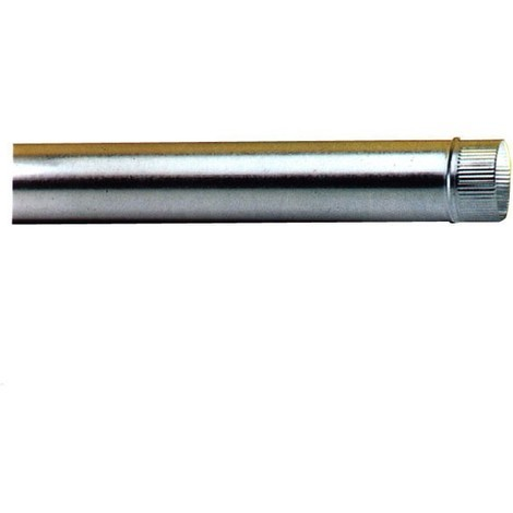 Wolfpack tubo estufa acero galvanizado Ø 120 mm, ideal estufas de leña, chimenea, alta resistencia, conducto humos