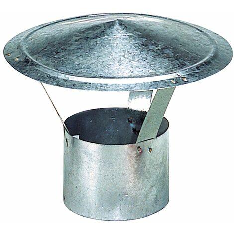 WOLFPACK Wolfpack Sombrero Galvanizado para Estufa, Chimenea, Extracción de Humos, Para tubo Ø 130 mm.