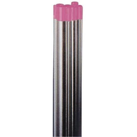 Wolfram-Elektrode WIG Lymox pink für Gleichstrom und Wechselstrom AC/DC, enthält seltene Erden, 175 mm Länge, Thoriumfrei, entspricht DIN EN 26848, VPE 10 Stück - Größe:2.0 mm