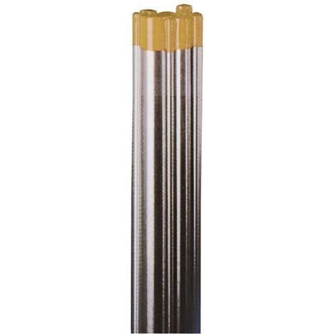 Wolfram-Elektrode WIG WL 15 gold für Gleichstrom und Wechselstrom AC/DC, enthält 1,5% Lanthanoxid, 175 mm Länge, Thoriumfrei, entspricht DIN EN 26848, VPE 10 Stück - Größe:2.4 mm