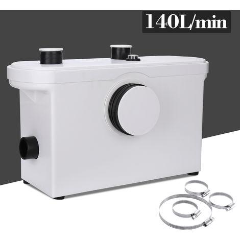 Wolketon 3/1 Hebeanlage Faekalienpumpe 600W Kompakte Abwasserentsorgung Haenge WC Dusche Waschtisch Haushaltspumpe