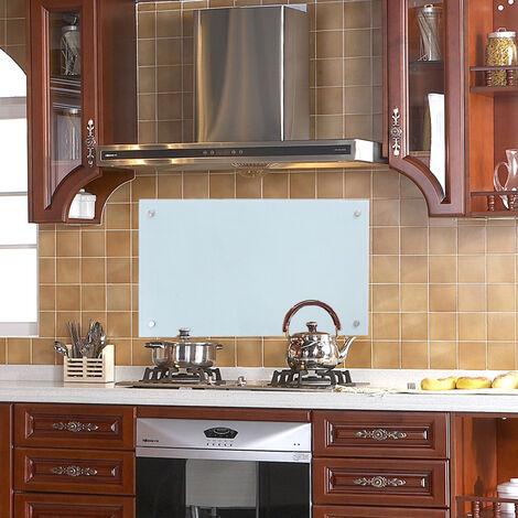 wolketon Küchenrückwand Spritzschutz Glas Klarglas Küchenrückwand für Küche, Herd, Fliesen viele Größen