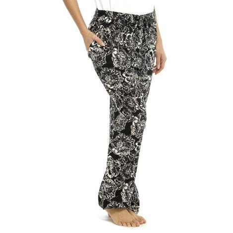 Womens Lightweight Monochrome Print Summer Trouser Bottoms Lounge Wear Pants
