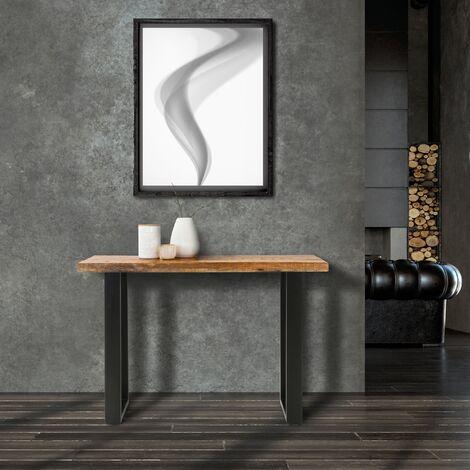 WOMO-DESIGN Mesa de centro auxiliar escritorio tabla madera de mango 115x40x77cm