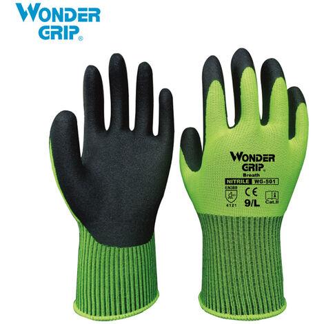 Wonder Grip Guantes de trabajo universales, Guantes de jardineria a prueba de abrasion,L