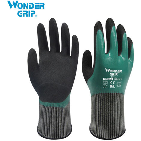 Wonder Grip Guantes Thermo Plus prueba de frio Trabajo de latex doble capa engrasada Resistencia jardineria guantes de la pesca de trabajo, XL