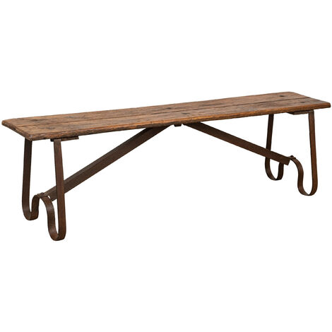 """main image of """"Wood and iron bench L153XPR40XH46 CM"""""""
