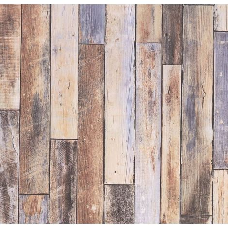 Wood Effect Wallpaper Wooden Distressed Look Panels Boards Rustic From P S