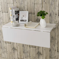 Wood Folding Wall-mounted Drop-leaf Table Kitchen Desk Dining Table 80x60CM UK