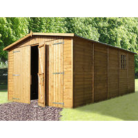 Wood Garage treated ALBATROS 3x6 m - 18 m²