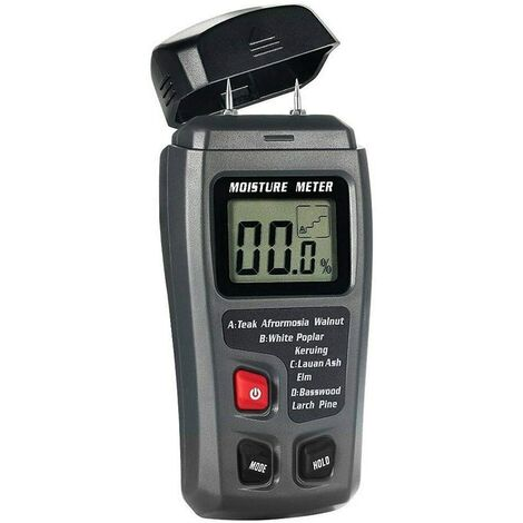 Wood Moisture Meter, 2 Pin Digital LCD 0.5% Accurate 0-99.9% Moisture Detector Tester for Firewood - Not Include Batteries