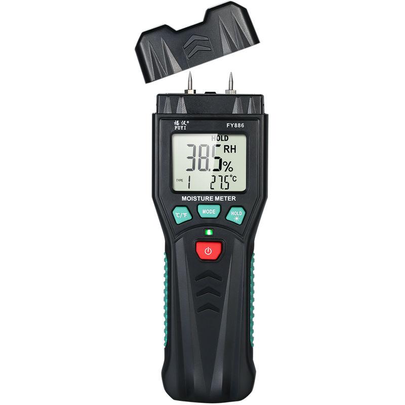 Image of Wood moisture tester floor cement brick paper moisture detector