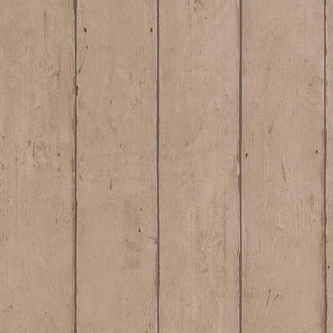 Wood Panel Wallpaper Rasch Home Passion Brown Textured Embossed