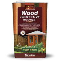 Wood Protective Treatment Holly Green 5L Barrettine