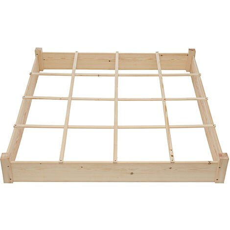 Wood Raised Garden Bed Planting Box Potted Plant 120x120x18cm