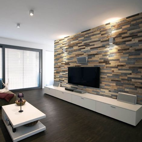 Wood Wallcovering Largo Decorative Wood Panel Wooden Wall Cladding 1m²