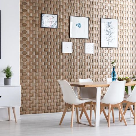 Wood Wallcovering Solid Wood Decorative Wood Panel Wooden Wall Cladding 1m²