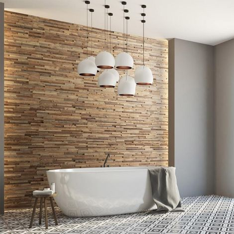Wood Wallcovering Taiga Decorative Wood Panel Wooden Wall Cladding 1m²