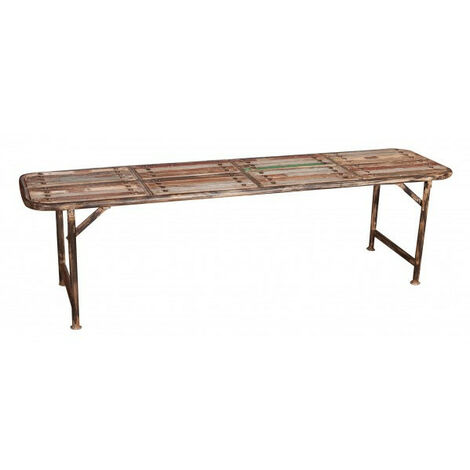 """main image of """"Wooden and iron bench"""""""