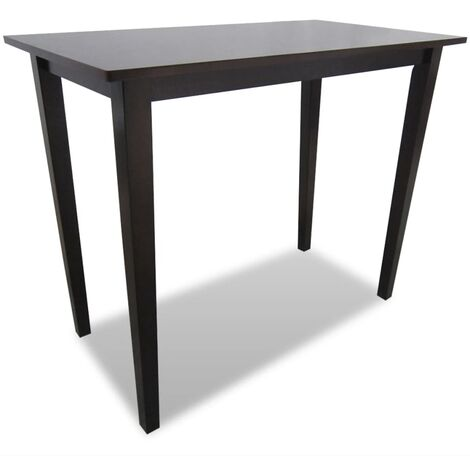 Wooden Bar Table Brown
