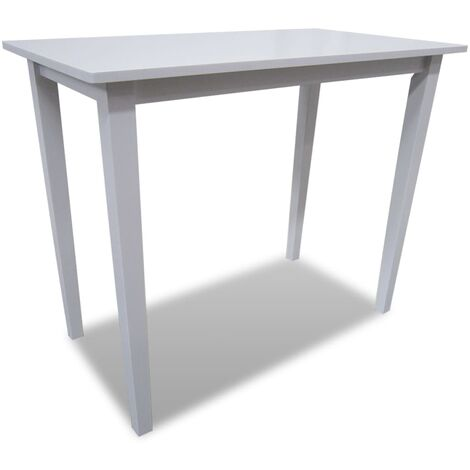 Wooden Bar Table White
