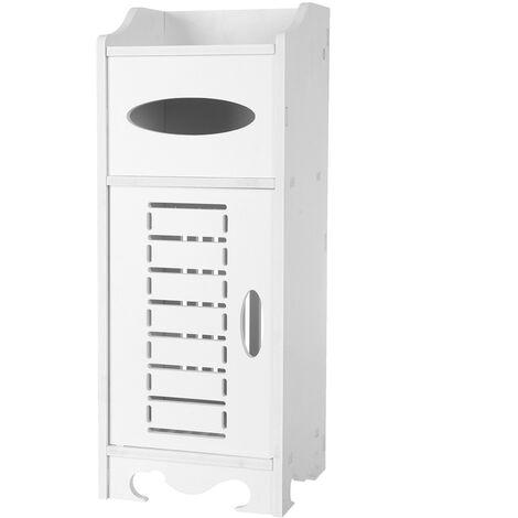 "main image of ""Wooden Bathroom Cabinet Shelf Cupboard Bedroom Storage Unit"""