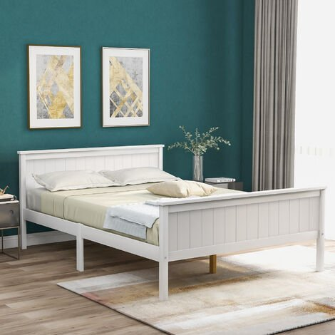 """main image of """"Wooden Bed Frame 135 x 190 cm"""""""