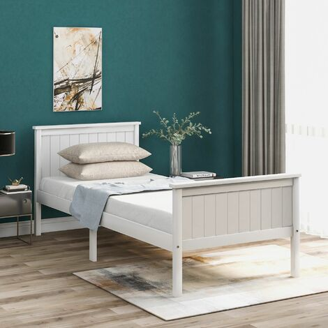 """main image of """"Wooden Bed Frame 90 x 190 cm"""""""