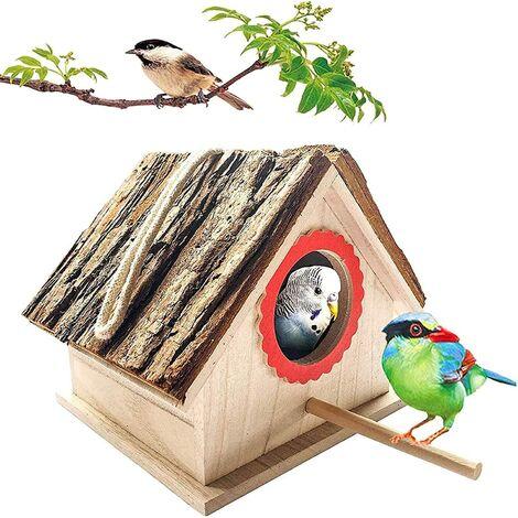"""main image of """"Wooden Bird House for Outdoor Hanging, Natural Cedar Outside Garden Patio Decorative for Dove Finch Wren Robin Sparrow Hummingbird"""""""