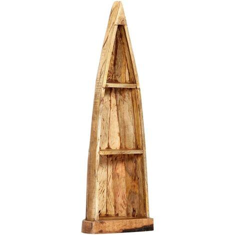 Wooden Boat Cabinet 40x30x130 cm Solid Mango Wood