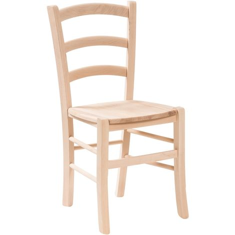 Wooden chair for dining table restaurant pizzeria kitchen farmhouses poor art L45xPR45xH88 cm Made In Italy
