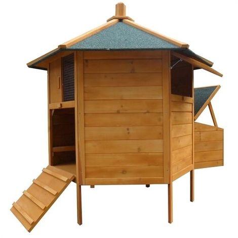 Wooden chicken coop hutch 131 x 125 (BxH)