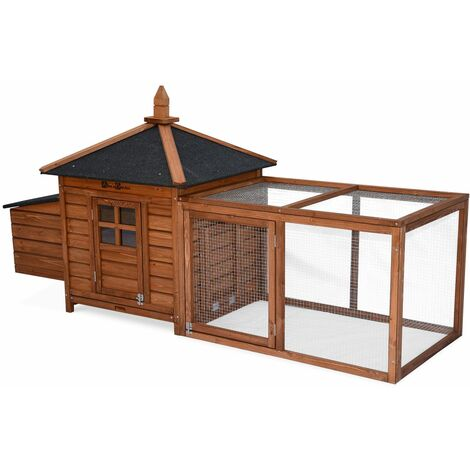 Wooden chicken coop - JAVA, for 3 chickens, backyard hen cage, indoor and outdoor space