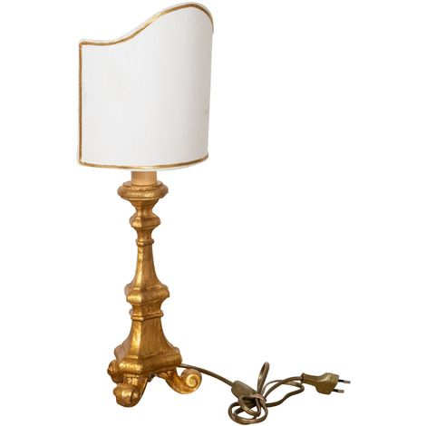 WOODEN DESK LAMP GOLD MADE IN ITALY