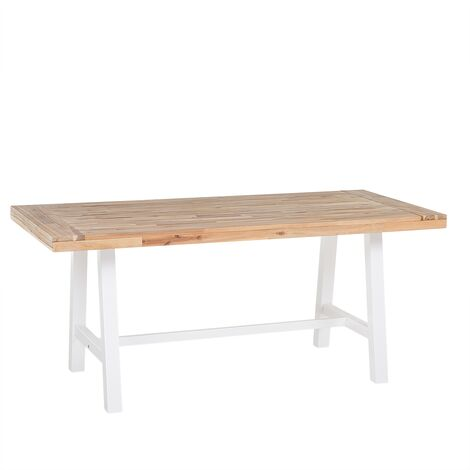 Wooden Dining Table 170 x 80 cm White SCANIA