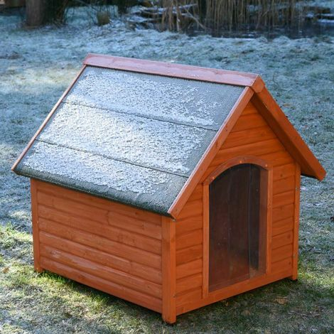 Wooden dog house W 93 x D 86 x H 84 cm