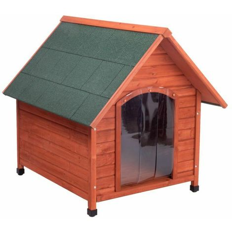 Wooden doghouse with door B 96 x T 112 x H 105 cm