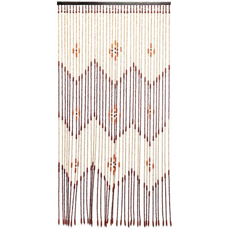 "main image of ""Wooden Bead String Curtain Bedroom Porch Door Window Mosquito Net Divider Home Decor 90x195cm"""