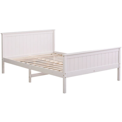 """main image of """"Wooden SINGLE DOUBLE White Grey Bed Frame Storage Drawers & Mattress"""""""