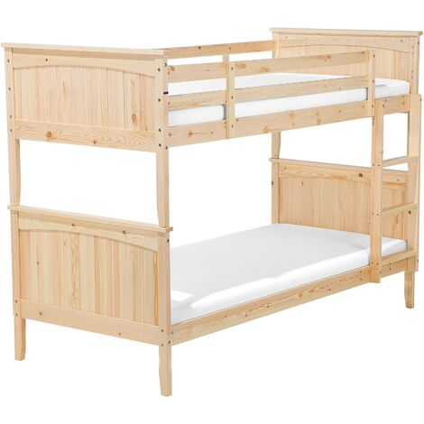 Wooden EU Single Size Bunk Bed Light RADON