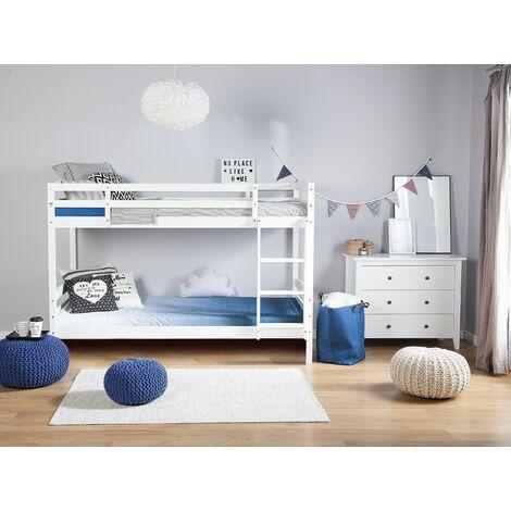 Wooden EU Single Size Bunk Bed White RADON