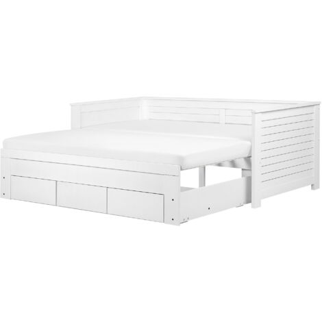 Wooden EU Single to Super King Size Daybed with Storage White CAHORS