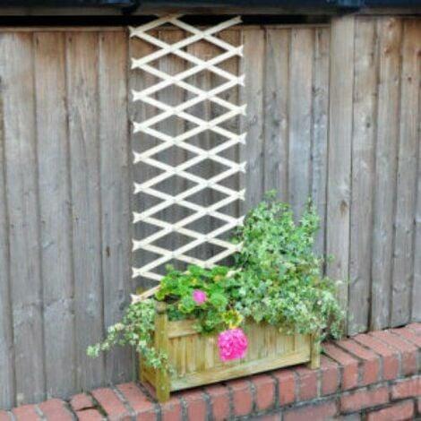 "main image of ""Wooden Expandable Garden Trellis - 6ft x 1ft"""