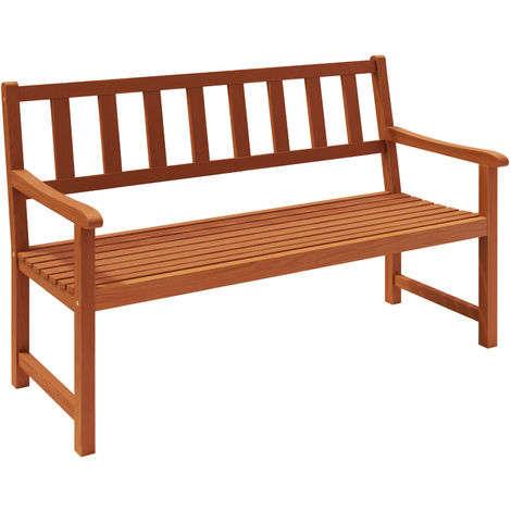 Wooden Garden Bench Made of Tropical Hardwood Outdoor Seater
