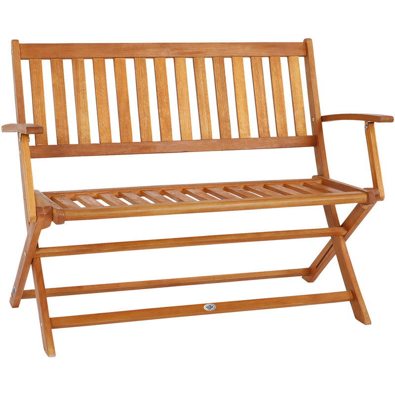 Groovy Wooden Garden Bench Outdoor Patio Foldable 2 Seater Folding Space Saving System Squirreltailoven Fun Painted Chair Ideas Images Squirreltailovenorg