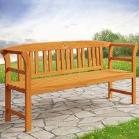 Wooden Garden Bench Rose 6ft 3-Seater FSC®- Certified Weatherproof Eucalyptus Wood