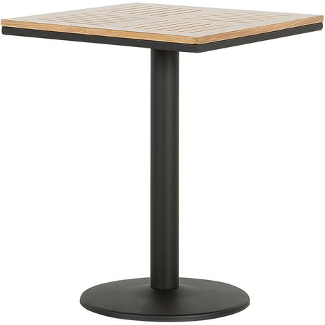 Wooden Garden Bistro Table 60 x 60 cm Light PALMI