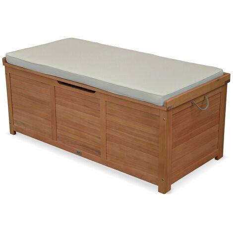Wooden garden storage box - 125x60cm - Caja