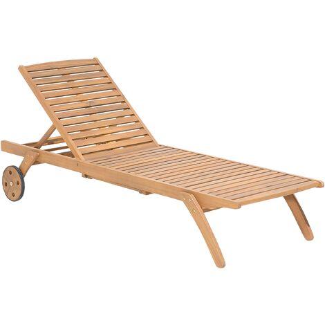 Wooden Garden Sun Lounger CESANA