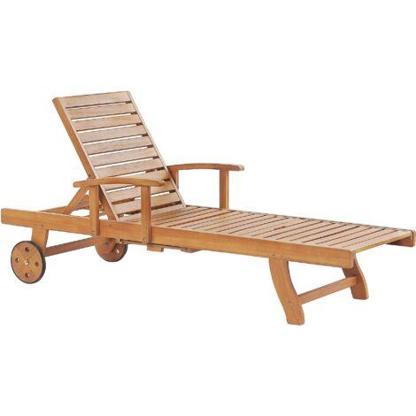Wooden Garden Sun Lounger JAVA